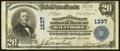 National Bank Notes:Maryland, Baltimore, MD - $20 1902 Plain Back Fr. 650 The Farmers &Merchants NB Ch. # 1337. ...