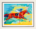 "Miscellaneous Collectibles:General, 1990's ""Secretariat"" Serigraph Signed by Leroy Neiman. ..."