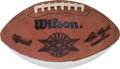Autographs:Bats, 1986 Super Bowl XX Game Issued Football. ...