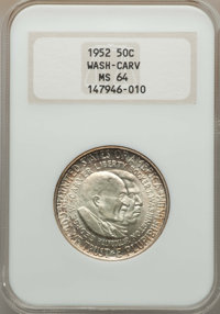 1952 50C Wash-Carv MS64 NGC. This lot will include the following; 1952-D 50C Wash-Carv MS64 NGC, and a 1952-S 50C W