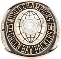 Football Collectibles:Others, 1967 Bart Starr Super Bowl I Green Bay Packers Salesman's Sample Ring. ...