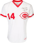 Baseball Collectibles:Uniforms, 1985 Pete Rose Game Worn Cincinnati Reds Jersey from Day of Record-Breaking 4,192nd Hit....