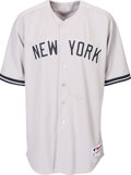 Baseball Collectibles:Uniforms, 2013 CC Sabathia Game Worn New York Yankees Jersey with Steiner Letter. ...
