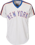 Baseball Collectibles:Uniforms, 1988 Darryl Strawberry Game Worn New York Mets Jersey. ...
