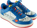 """Basketball Collectibles:Others, 2000's Shaquille O'Neal Issued & Signed """"Clark Kent"""" Shoes...."""
