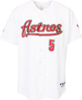 Baseball Collectibles:Uniforms, 2003 Jeff Bagwell Game Worn Houston Astros Jersey with Team Letter. ...