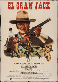 "Big Jake & Other Lot (Filmax, 1971). Folded, Fine/Very Fine. Spanish One Sheet (27.5"" X 39.5"") &am..."