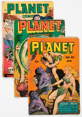 Golden Age (1938-1955):Science Fiction, Planet Comics Group of 4 (Fiction House, 1946-48) Condition:Average GD/VG.... (Total: 4 Comic Books)