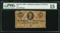 Confederate Notes:1863 Issues, T63 50 Cents 1863 PF-3 Cr. UNL.. ...