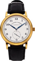 "Timepieces:Wristwatch, A. Lange & Söhne Very Fine ""1815"" Yellow Gold Wristwatch. ..."