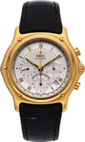 Timepieces:Wristwatch, Ebel New/Old Stock 18k Gold 1911 Chronograph. ...