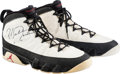 Basketball Collectibles:Others, 1993 Michael Jordan Practice Worn & Signed Air Jordan IX Sneakers - With LOA from Chelios....
