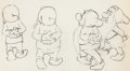 Animation Art:Production Drawing, Snow White and the Seven Dwarfs Four Dwarfs AnimationDrawing (Walt Disney, 1937). ...