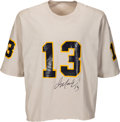 Football Collectibles:Uniforms, Early 1980's Dan Marino Signed Practice Worn Pittsburgh Panthers Jersey....