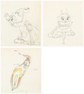 Animation Art:Production Drawing, Moth and the Flame Production/Color Model Drawings Group of3 (Walt Disney, 1938). ... (Total: 3 )