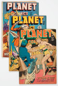 Golden Age (1938-1955):Science Fiction, Planet Comics Group of 4 (Fiction House, 1947-49) Condition: Average VG-.... (Total: 4 Comic Books)