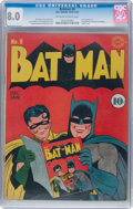 Golden Age (1938-1955):Superhero, Batman #8 (DC, 1942) CGC VF 8.0 Off-white to white pages....