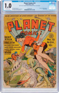 Golden Age (1938-1955):Science Fiction, Planet Comics #15 (Fiction House, 1941) CGC FR 1.0 Off-whitepages....