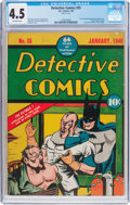 Golden Age (1938-1955):Superhero, Detective Comics #35 (DC, 1940) CGC VG+ 4.5 Off-white pages....