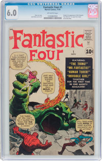 Fantastic Four #1 (Marvel, 1961) CGC FN 6.0 Off-white pages