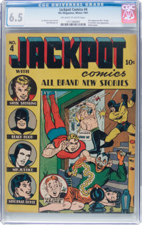 Jackpot Comics #4 (MLJ, 1941) CGC FN+ 6.5 Off-white to white pages
