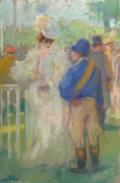 Works on Paper, A Pair of Framed Pastels Depicting Parisian Life by Louis Fortuney (French, 1875-1951). 22-1/4 x 18-1/2 inches (56.5 x 47.0 ... (Total: 2 Items)