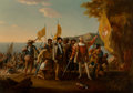 Fine Art - Painting, American:Other , After John Vanderlyn (American, 1775-1852). Landing ofColumbus. Oil on canvas. 26-1/2 x 38-1/2 inches (67.3 x 97.8cm)...