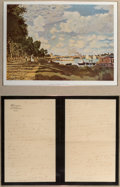 Decorative Arts, French:Other , A Framed Claude Monet Letter, 1899. 21 x 14 inches (53.3 x 35.6 cm)(framed). PROVENANCE: . Raynor's Historical Auctions, ...
