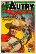 "Movie Posters:Western, The Singing Cowboy (Republic, 1936). One Sheet (27"" X 41"").. ..."