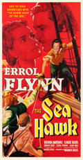 "Movie Posters:Swashbuckler, The Sea Hawk (Warner Brothers, 1940). Three Sheet (41.75"" X 80"").. ..."
