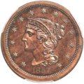 Proof Large Cents, 1857 1C Small Date, N-5, R.5, PR63 Brown PCGS....
