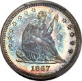 Proof Seated Quarters, 1867 25C PR66 PCGS. Briggs 2-B....