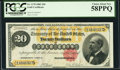 Large Size:Gold Certificates, Fr. 1178 $20 1882 Gold Certificate PCGS Choice About New 58PPQ.....