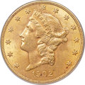 Liberty Double Eagles, 1902 $20 MS63 PCGS. CAC....