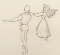 Animation Art:Production Drawing, Sleeping Beauty Briar Rose and Prince Phillip AnimationDrawing (Walt Disney, 1959). ...
