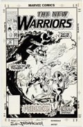 Original Comic Art:Covers, Mark Bagley and Larry Mahlstedt New Warriors #15 CoverOriginal Art (Marvel, 1991)....