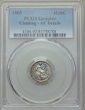 Seated Half Dimes: , 1865 H10C -- Cleaning -- PCGS Genuine. AU Details. NGC Census: (1/45). PCGS Population: (4/55). CDN: $850 Whsle. Bid for pr...