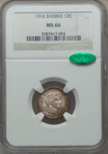 Barber Dimes, 1916 10C Barber MS66 NGC. CAC. NGC Census: (34/7). PCGS Population:(58/7). CDN: $640 Whsle. Bid for problem-free NGC/PCGS ...