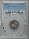 Proof Indian Cents: , 1897 1C PR66 Brown PCGS. PCGS Population: (21/5). NGC Census: (14/1). Mintage 1,938. ...
