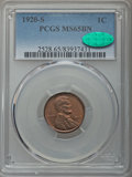 Lincoln Cents: , 1920-S 1C MS65 Brown PCGS. CAC. PCGS Population: (17/0). NGC Census: (9/2). Mintage 46,220,000. ...