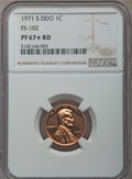 1971-S 1C Doubled Die Obverse, FS-102, PR67 ★ Red NGC. NGC Census: (23/5 and 8/4*). PCGS Population: (11/1 and 8/4*)...