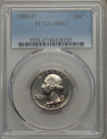 Washington Quarters, 1989-P 25C MS67 PCGS. PCGS Population: (13/0). NGC Census: (16/1)....