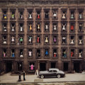 Photographs, Ormond Gigli (American, b. 1925). Girls in the Windows, New York City , 1960. Oversized dye coupler, printed later. 46 x...