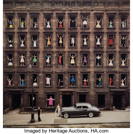 Ormond Gigli (American, b. 1925)Girls in the Windows, New York City , 1960Oversized dye coupler, printed later46 x...