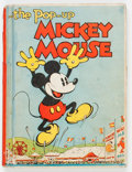 Platinum Age (1897-1937):Miscellaneous, Pop-Up Mickey Mouse Hardback (Blue Ribbon Books, 1933) Condition:Apparent VG....
