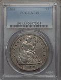 Seated Dollars: , 1868 $1 XF45 PCGS. PCGS Population: (26/109). NGC Census: (17/68). Mintage 162,100. ...