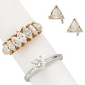 Estate Jewelry:Rings, Diamond, Gold Jewelry . ... (Total: 3 Items)