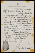 Autographs:Letters, 1940 Connie Mack Handwritten Signed Letter....