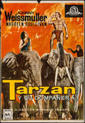 "Movie Posters:Adventure, Tarzan and His Mate (MGM, R-1968). Spanish One Sheet (25"" X 37"").Adventure.. ..."