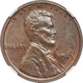 Lincoln Cents, 1943 CENT Struck on a Bronze Planchet MS62 Brown NGC....